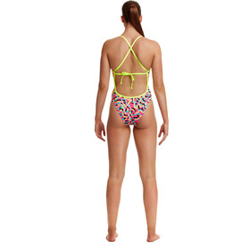 Funkita Tie Me Tight One Piece Badpak Dames, party popper